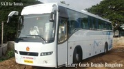 Luxury 18 21 35 50 Seater bus  coach hire Rentals in Bangalore - 09036657799
