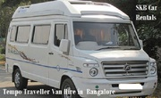 Tempo Traveler 12 seater car van hire or rentals in BLR -  09036657799