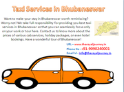 taxi services in Bhubaneswar