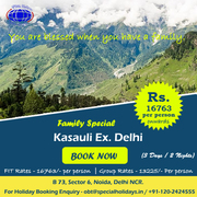 Kasauli Ex. Delhi Holiday Packages with Speecial Holidays